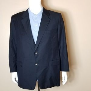 Hickey Freeman Navy Blue Sport Coat